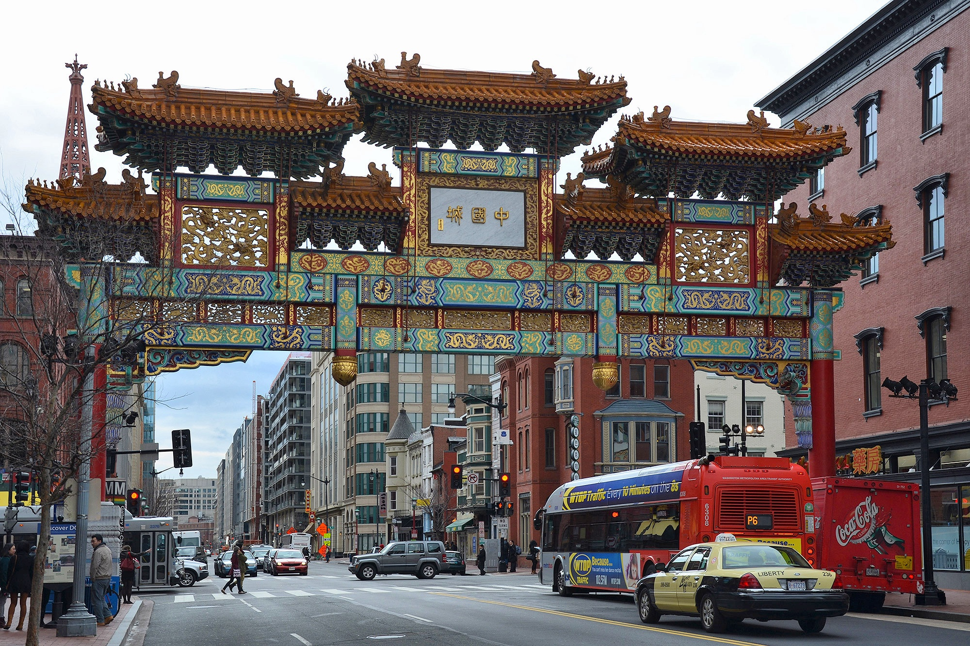Chinatown Friendship Arch in Washington, Washington, USA