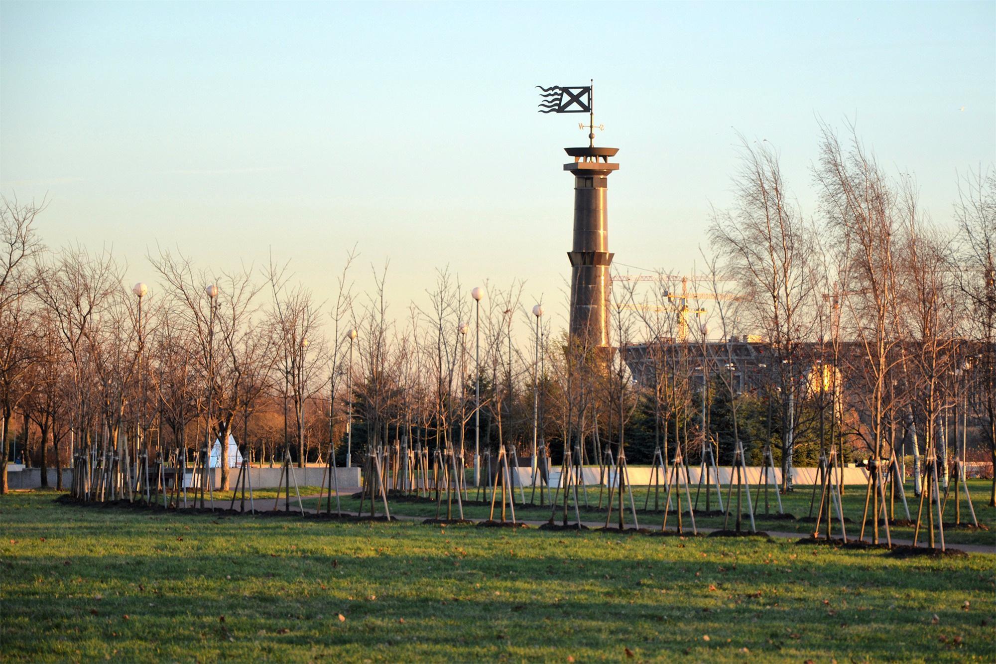 Колонна-маяк, Санкт-Петербург, Россия